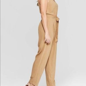 NEW!! Tan Strappy Jumpsuit